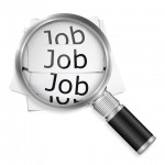 Magnifying Glass over the word Jobs